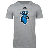 Adidas Sport Grey Logo T Shirt-Peacock