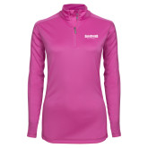 Ladies Syntrel Interlock Raspberry 1/4 Zip-Saint Peters University