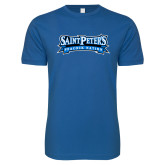 Next Level SoftStyle Royal T Shirt-Saint Peters Peacock Nation Banner
