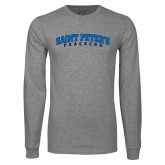 Grey Long Sleeve T Shirt-Arched Saint Peters University