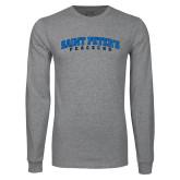Grey Long Sleeve T Shirt-Arched Saint Peters University