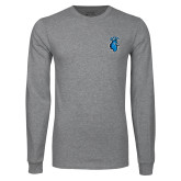 Grey Long Sleeve T Shirt-Peacock