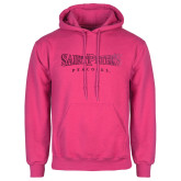 Fuchsia Fleece Hoodie-Saint Peters University Foil