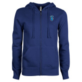 ENZA Ladies Royal Fleece Full Zip Hoodie-Peacock