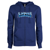 ENZA Ladies Royal Fleece Full Zip Hoodie-Saint Peters Peacock Nation Banner