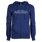 ENZA Ladies Royal Fleece Full Zip Hoodie-Arched Saint Peters University