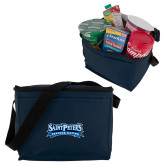 Six Pack Navy Cooler-Saint Peters Peacock Nation Banner