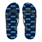 Full Color Flip Flops-Saint Peters Peacock Nation Banner