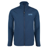 Navy Softshell Jacket-Saint Peters Peacock Nation Banner