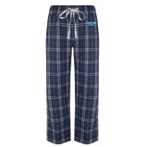 Navy/White Flannel Pajama Pant-Saint Peters Peacock Nation Banner