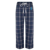 Navy/White Flannel Pajama Pant-Peacock