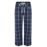 Navy/White Flannel Pajama Pant-Peacock