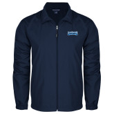 Full Zip Navy Wind Jacket-Saint Peters Peacock Nation Banner