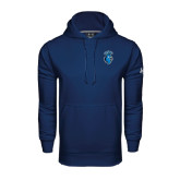 Under Armour Navy Performance Sweats Team Hoodie-Peacock