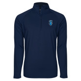 Sport Wick Stretch Navy 1/2 Zip Pullover-Peacock