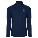 Sport Wick Stretch Navy 1/2 Zip Pullover-Peacock