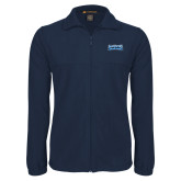 Fleece Full Zip Navy Jacket-Saint Peters Peacock Nation Banner