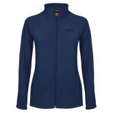 Ladies Fleece Full Zip Navy Jacket-Saint Peters University