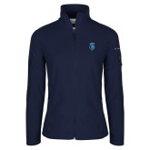 Columbia Ladies Full Zip Navy Fleece Jacket-Peacock