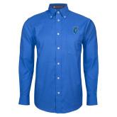 Mens Royal Oxford Long Sleeve Shirt-Peacock