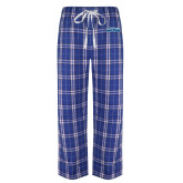 Royal/White Flannel Pajama Pant-Saint Peters Peacock Nation Banner