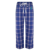 Royal/White Flannel Pajama Pant-Peacock