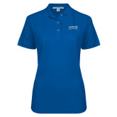 Ladies Easycare Royal Pique Polo-Saint Peters Peacock Nation Banner