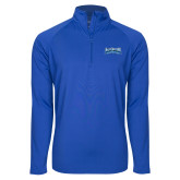 Sport Wick Stretch Royal 1/2 Zip Pullover-Saint Peters Peacock Nation Banner