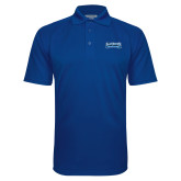 Royal Textured Saddle Shoulder Polo-Saint Peters Peacock Nation Banner