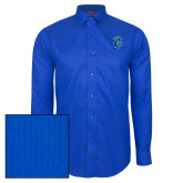 Red House French Blue Dobby Long Sleeve Shirt-Peacock