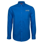 Red House French Blue Long Sleeve Shirt-Saint Peters Peacock Nation Banner