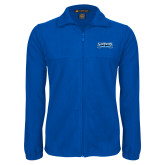 Fleece Full Zip Royal Jacket-Saint Peters Peacock Nation Banner