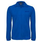 Fleece Full Zip Royal Jacket-Saint Peters University