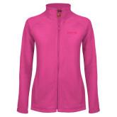 Ladies Fleece Full Zip Raspberry Jacket-Saint Peters University