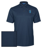 Navy Performance Fine Jacquard Polo-Peacock