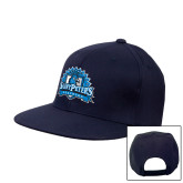 Navy Flat Bill Snapback Hat-Official Logo