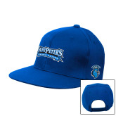 Royal Flat Bill Snapback Hat-Saint Peters Peacock Nation Banner