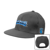 Charcoal Flat Bill Snapback Hat-Saint Peters Peacock Nation Banner