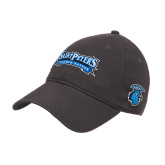 Charcoal Twill Unstructured Low Profile Hat-Saint Peters Peacock Nation Banner