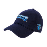 Navy Twill Unstructured Low Profile Hat-Saint Peters Peacock Nation Banner