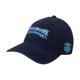Navy OttoFlex Unstructured Low Profile Hat-Saint Peters Peacock Nation Banner