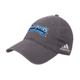 Adidas Charcoal Slouch Unstructured Low Profile Hat-Saint Peters Peacock Nation Banner