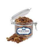 Deluxe Nut Medley Small Round Canister-Saint Peters Peacock Nation Banner