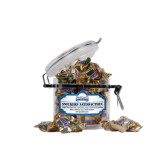 Snickers Satisfaction Small Round Canister-Saint Peters Peacock Nation Banner