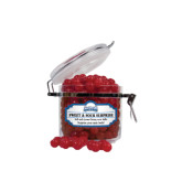 Sweet & Sour Cherry Surprise Small Round Canister-Saint Peters Peacock Nation Banner