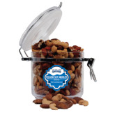 Deluxe Nut Medley Round Canister-Saint Peters Peacock Nation Banner