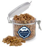 Cashew Indulgence Round Canister-Saint Peters Peacock Nation Banner