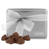 Decadent Chocolate Clusters Silver Large Tin-Saint Peters Peacocks Engraved