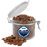 Almond Bliss Round Canister-Saint Peters Peacock Nation Banner