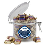 Snickers Satisfaction Round Canister-Saint Peters Peacock Nation Banner